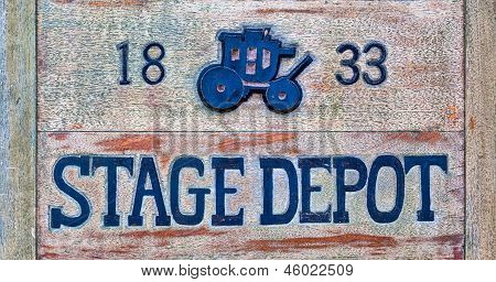 Stagecoach Sign