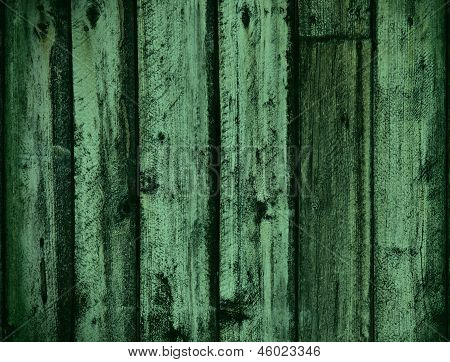 Green Tones Wood Background