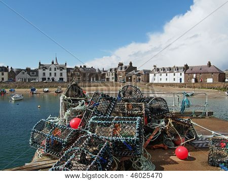 Lobster Pot In Montrose Harbor, Scotland, May 2013