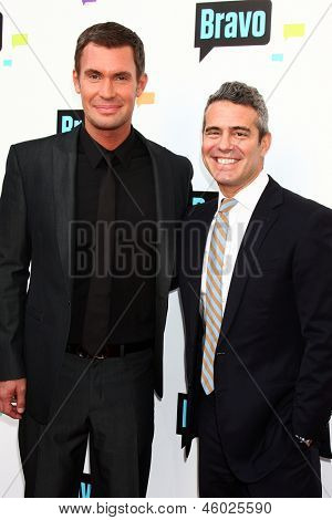 LOS ANGELES - MAY 22:  Jeff Lewis and Andy Cohen arrive at the Bravo Media's 2013 For Your Consideration Emmy Event at the ATAS Leonard H. Goldenson Theater on May 22, 2013 in No. Hollywood, CA