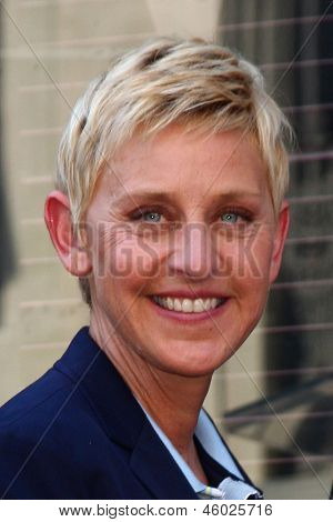LOS ANGELES - MAY 13:  Ellen DeGeneres at the Steve Harvey Hollywood Walk of Fame Star Ceremony at the W Hollywood Hotel  on May 13, 2013 in Los Angeles, CA