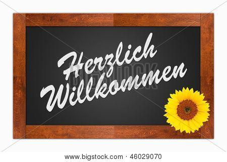 Herzlich Willkommen, Welcome Sign
