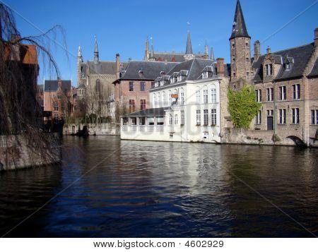 Canal Scene,bruges,belgium