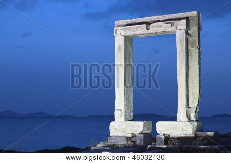 Apollon temple at Naxos island in Greece