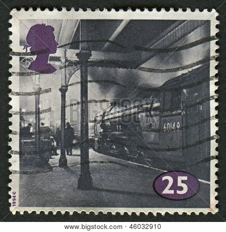 UK - CIRCA 1994: A stamp printed in UK shows image of the Class A1 No. 60149 Amadis at Kings Cross, circa 1994.