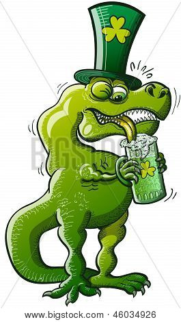 St Patrick's Day T-Rex