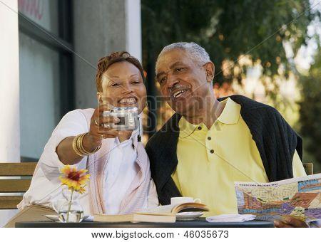 Altes Paar Aufnahme Bild ihrer selbst