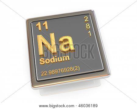 Sódio. Elemento químico. 3D
