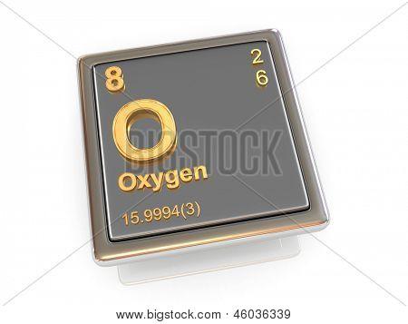 Oxygen. Chemical element. 3d