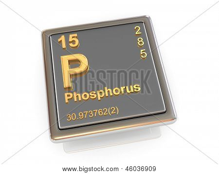 Phosphor. Chemisches Element. 3D