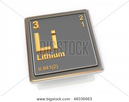 Lithium. Chemical element. 3d