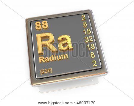 Rádio. Elemento químico. 3D