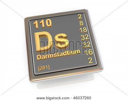 Darmstadtium. Chemical element. 3d