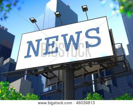 World News Concept on Billboard.