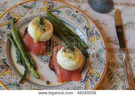 Poached egg brunch
