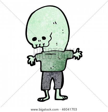 cartoon weird alien
