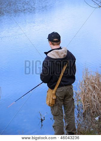 Young Angler Fishing