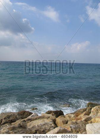Mediterranean Sea In Tel Aviv  Israil