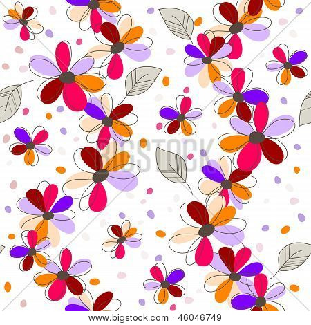 Colorful Seamless Flowers