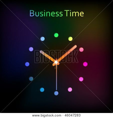 abstract clock background vector, easy all editable