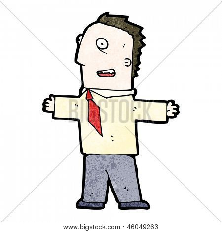 cartoon enthusiastic businessman