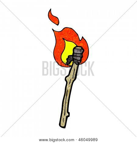 cartoon flaming torch