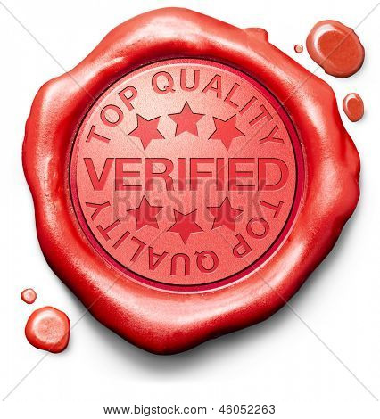 verified top quality label red wax stamp icon confirmed qualityes certificate 100% guaranteed product