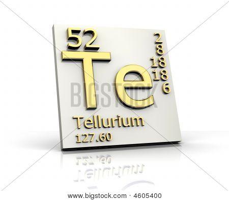 Tellur Form Periodensystem der Elemente