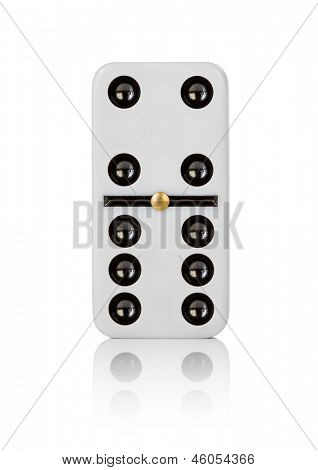 One tile dominoes on white background