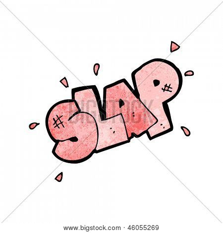 cartoon slap symbol