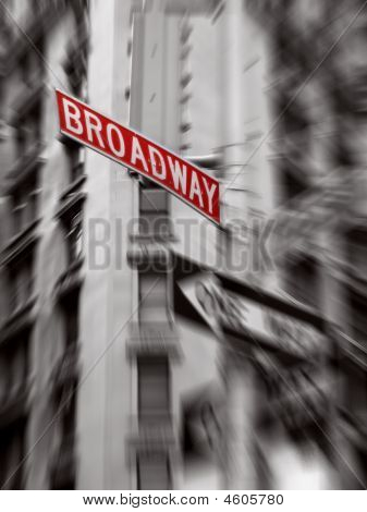 Red Broadway Sign
