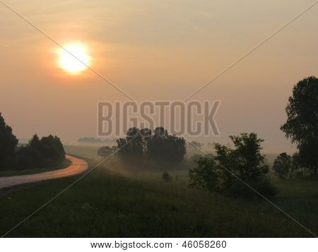 Sunrise In The Steppe