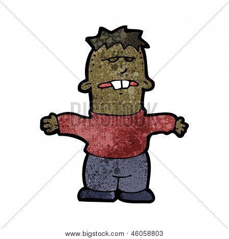 cartoon ugly kid
