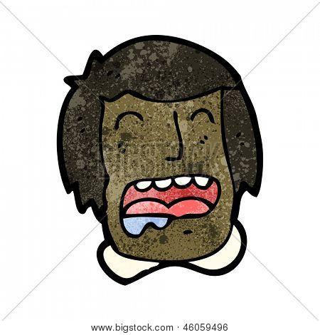 cartoon drooling face