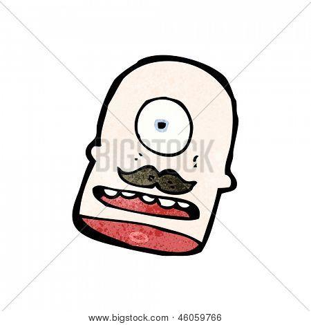cabeça de Ciclope dos desenhos animados