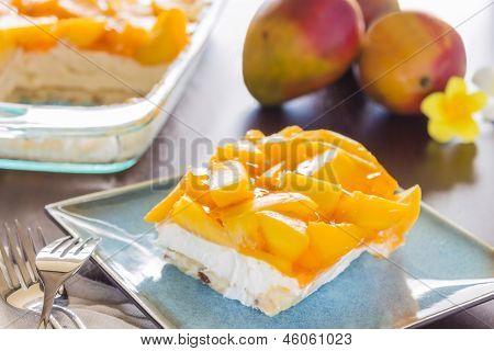 Hawaiian Mango Jello Cheesecake