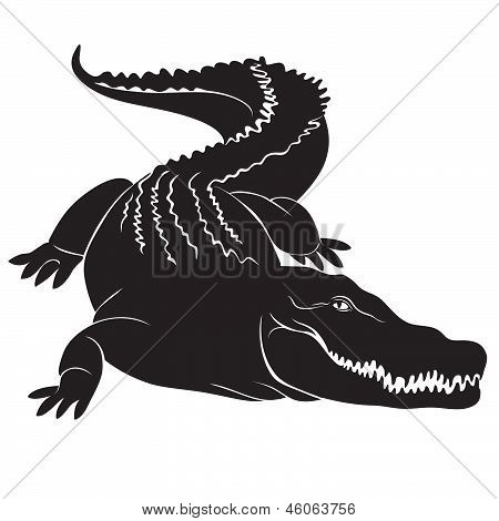 Big crocodile sign. vector image
