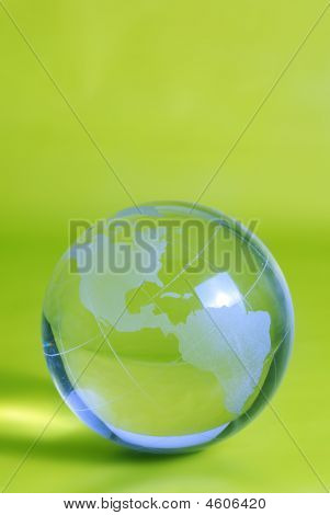 Green Glass Globe