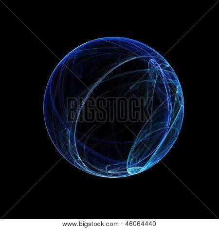 Blue Ring Sphere