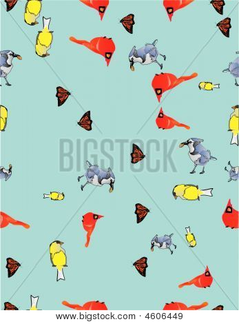 Birds  And Butter Flybackground