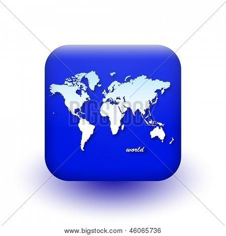 World map icon. Vector eps 10