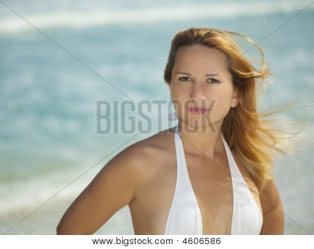 Woman On The Tropical Beach