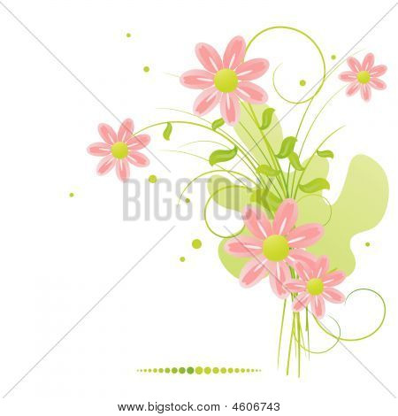 Bunch Of Beautiful Summer Flowers.