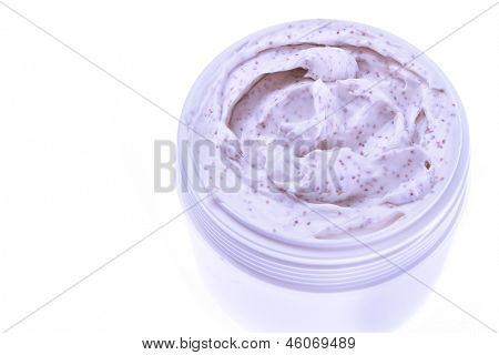 body scrub isolated on white background