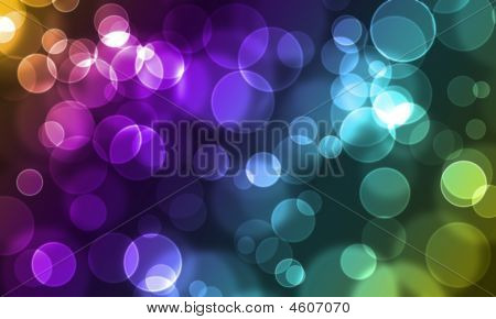Abstract Glowing Circles