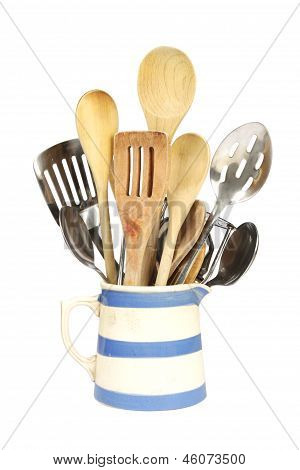 Kitchen Utensils In A Jug