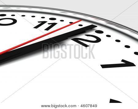 Black And White Chrome Clock