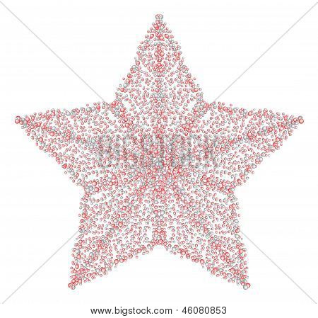 An Illustration Of The Star Made From Drops