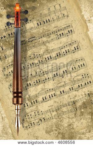 Fountain Pen And Violin