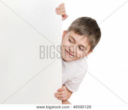Boy Peep Out Through Poster